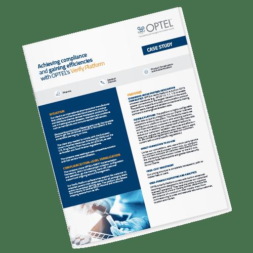 achieving compliance efficiencies optel verify platform