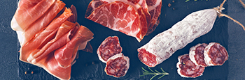 Meat,Appetizer,Platter,With,Sausage,,And,Italian,Cold,Cuts.,Above